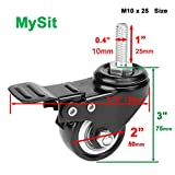 "MySit 2"" Casters with Brake Lock"