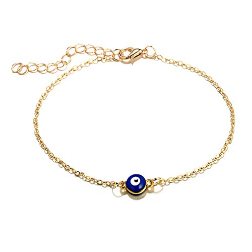 Liraly Simple Round Ball Anklet Creative Single Layer Billiard Shape Anklet Fashion Jewelry for Women 2019 (Gold)