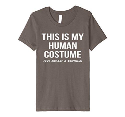 Centaur Costume Kids (Kids Human Costume I'm a Centaur Shirt Cosplay Halloween Tee 4 Asphalt)