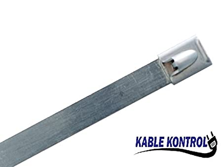 5 Long Duraline Stainless Steel Cable Ties Self-Lock 150Lbs to 200Lbs Test 100, 5 Long