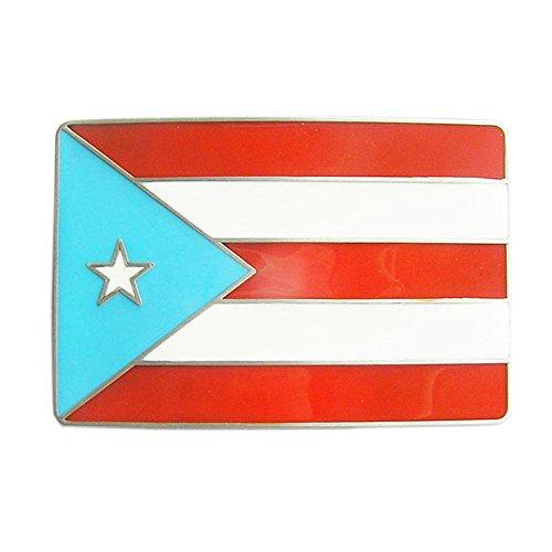 New Vintage Puerto Rico Flag Belt Buckle Gurtelschnalle Boucle de ceinture
