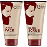 QRAA De Tan Pack, 120 g with De Tan Scrub for Men, 100 g