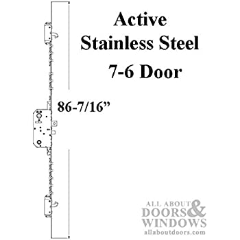 Andersen Multipoint Lock, FWH76 Active Door - Stainless Steel