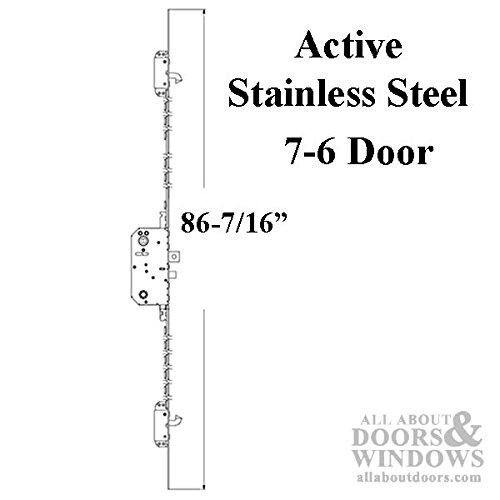 Andersen Multipoint Lock, FWH76 Active Door - Stainless Steel