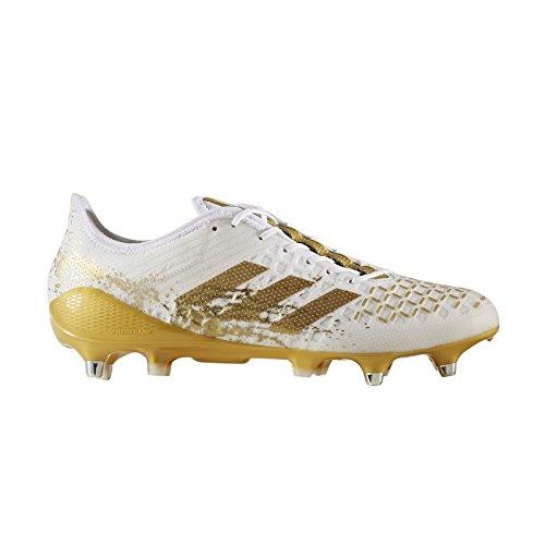 Adidas Predator Malice Control Rugby Boots - White/Gold - UK 8 (Adidas Predator Rugby)