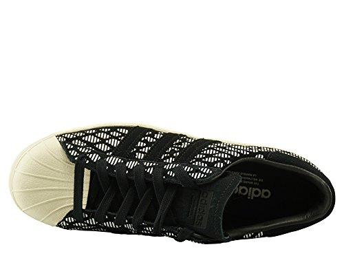 adidas Superstar 80s W Bz0642, Zapatillas de Deporte Para Mujer Negro (Negbasnegbascasbla)