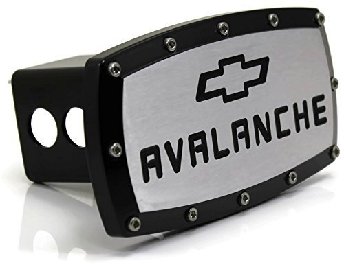 Chevrolet Avalanche Billet 2' Tow Hitch Cover Plug Engraved Billet Black Coated DanteGTS