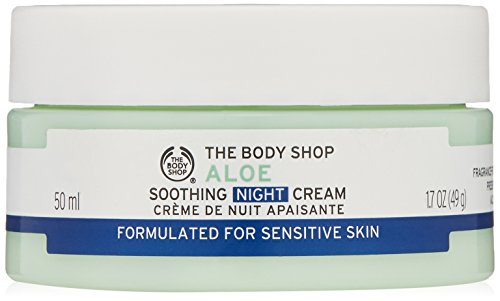 Velvety Soothing Skin Cream (The Body Shop Aloe Soothing Night Cream, Paraben-Free Face Moisturizer, 1.7 Oz.)