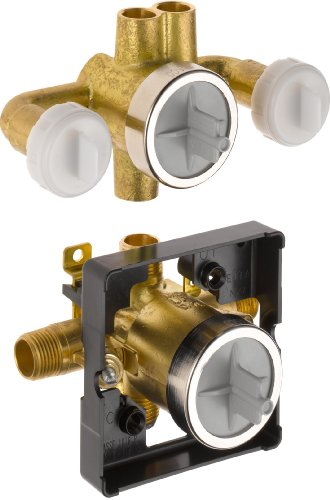 Universal Jetted Shower - Delta R18000-XOWS Jetted Shower Rough-In Valve with Extra Outlet 6-Setting