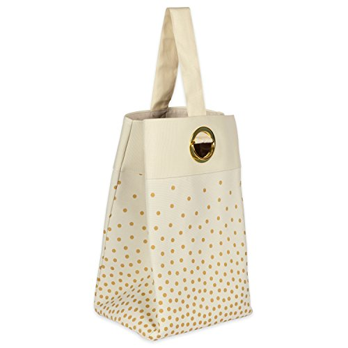 DII Canvas Single Strap Bag Confetti Gold 14x10x22 Laundry Basket,