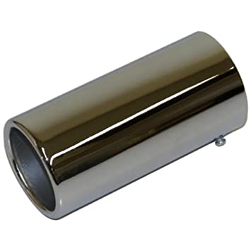 Large car van straight Exhaust pipe tip trim chrome detail tail piece cover 75mm
