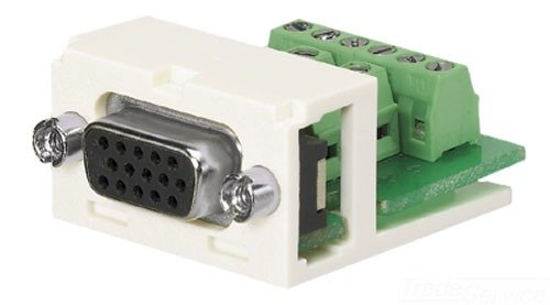 UPC 074983036080, Panduit CMD15HDIWY 15-Pin High-Density 2-Port D-Subminiature Module, Off White