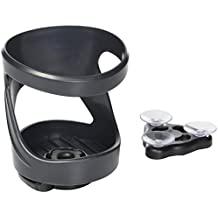 SunChaser Drink Holder By For Cups and Bottles, Holds Cans and Tumblers - Comes with Drink Stake, Beverage Holder with Strap and Suction for Boats - Cupholder Gift - Graphite Grey
