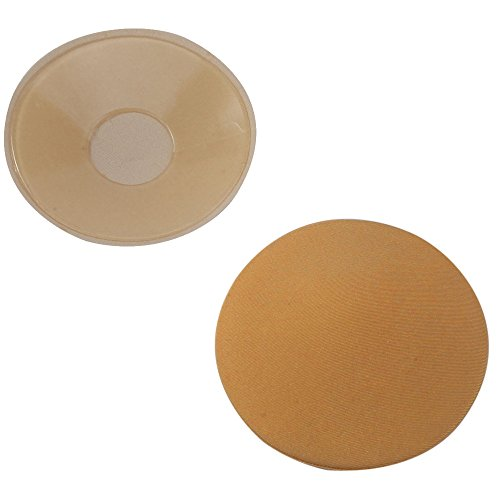 Akabsh_costumes New Women Thin Cup Bra,Breathable Invisible Silicone Pads Breast Petals,Comfortable Underwear (Khaki)