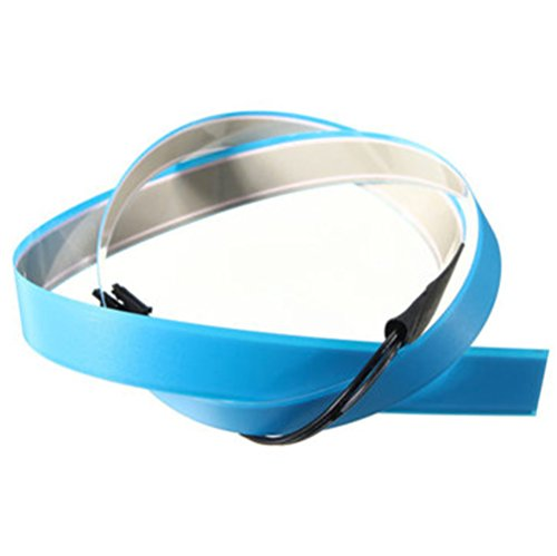 Elastic Wire 1M Electroluminescent Tape Glowing LED Rope Flat Strip Light with AA Battery Box 3V