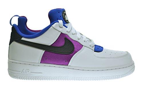 Nike Air Force 1 Comfort Huarache Mens Shoes White/Black-Lyon Blue-Bold Berry 705063-100 (11.5 D(M) US)