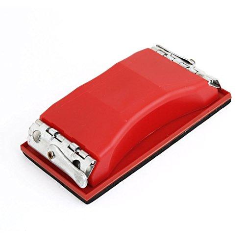 uxcell Rectangle Grit Abrasive Paper Sandpaper Holder Hand Sander Red Black