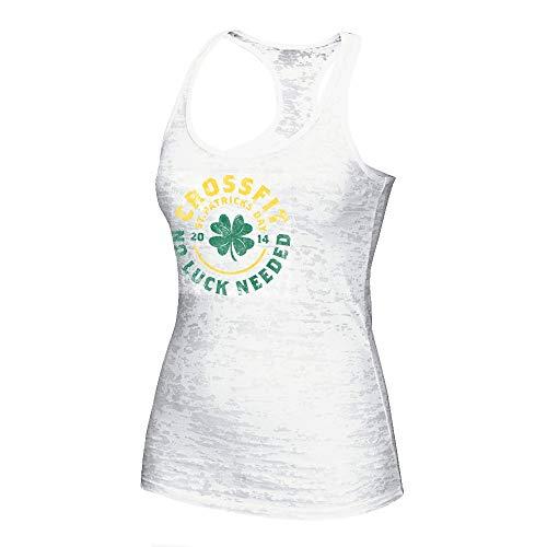 (Reebok 2014 Crossfit St. Patricks Day Women's White Burnout Tank Top)