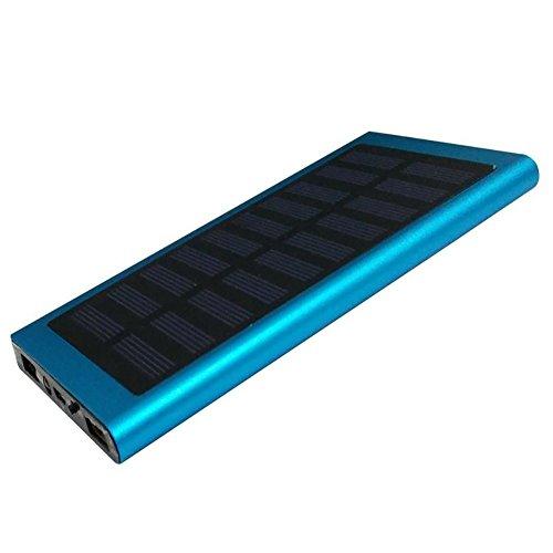 AKYUHER72 Urstory1 cargador solar de 20000 mAh, banco de energía 2 USB de carga rápida, LED ultra delgado, cargador de...