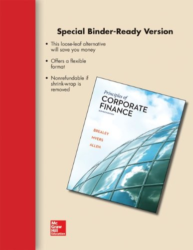 Loose-leaf for Principles of Corporate Finance (The Mcgraw-hill/Irwin Series in Finance, Insurance, and Real Estate)