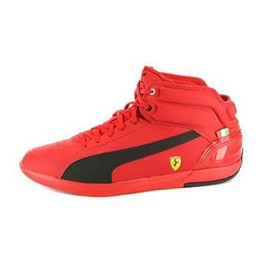 puma ferrari shoes high top red