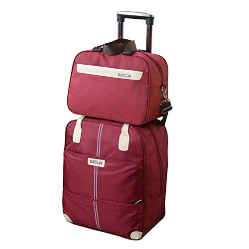 hion Oxford Backpack Luggage Suitcase Trolley Case (Color : H, Size : 39x21.5x45cm) ()