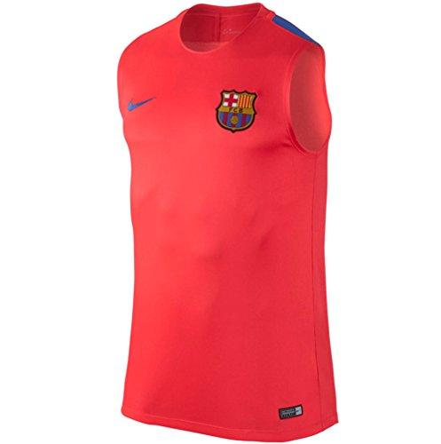 2016-2017 Barcelona Nike Sleeveless Training Shirt (Crimson)