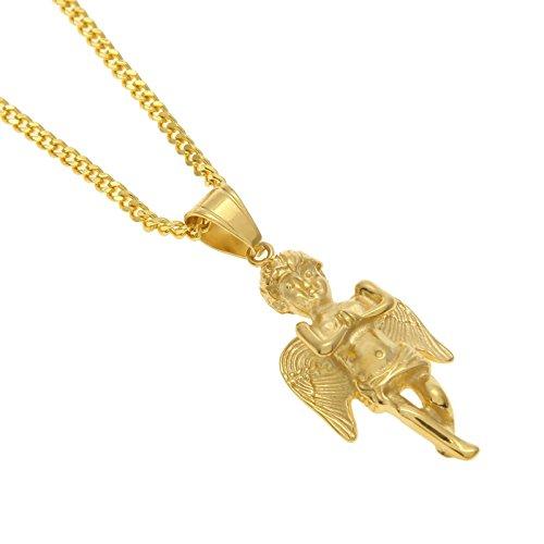 4f751e73fd06 Beydodo Colgante Collar Chapado en Oro Hombre Collar de Hombre Collar Ángel  Linda Collar Oro Delicado