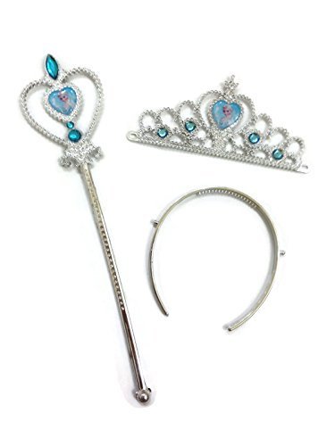 Rush Dance Queen Elsa Fairy Princess Snowflake Set - Wand & Tiara