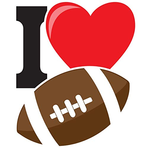 I Heart Football Temporary Tattoos, 25 Pack Spirit -
