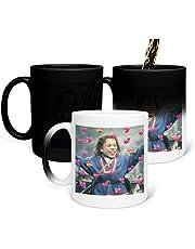 Warwick skådespelare Davis_Meme_PNS2324 färgskiftande mugg magisk värme förändring te kaffemugg rolig kopp, för kontor och hem, sovsal dekoration 325 ml