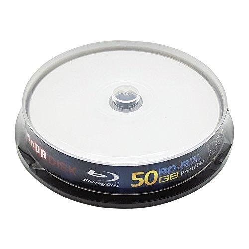 MNDADISK Blank Blu Ray Discs 50GB BD-R DL 4x Speed High Grade Bluray Dual Layer Spindle
