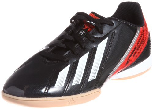 adidas F10 IN J - Zapatos de fútbol de material sintético niño negro - Schwarz (Black 1 / Running White Ftw / Infrared)