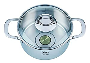ELO Premium Silicano Plus Stainless Steel Kitchen Induction Cookware Saucepan with Oil Measuring System and Copper Core