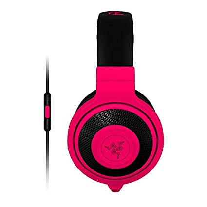 f73bf2e2e0e Amazon.com: Razer Kraken Mobile Analog Music & Gaming Headset-Neon Red:  Computers & Accessories