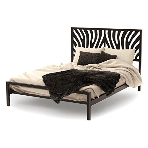 - Amisco Zebra Metal Bed, Queen Size 60