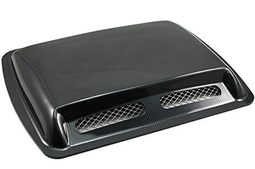 NEVERLAND Car decorative Air Flow Intake hood Scoop Vent Bonnet Cover (Black 3)