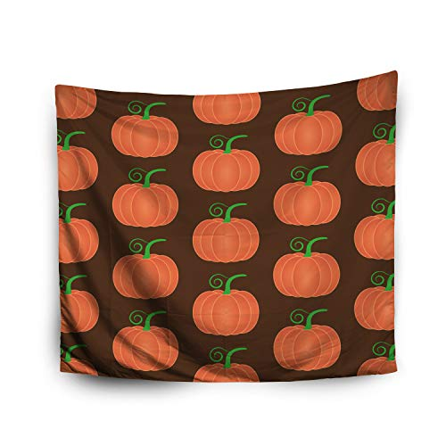 Jacrane Tapestry Wall Hanging with 50x60 Inches Halloween Halloween icon Orange Pumpkin Food Background Autumn Symbol Art Tapestries for Bedroom Living Room Home Decor Wall Hanging Tapestries]()