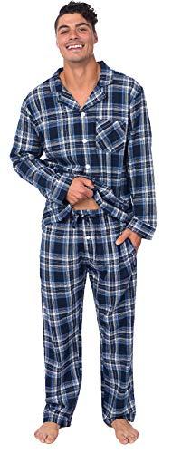 PLATINUM SPORT Mens 100% Cotton Yarn-Dyed Flannel 2 Piece Pajama Set