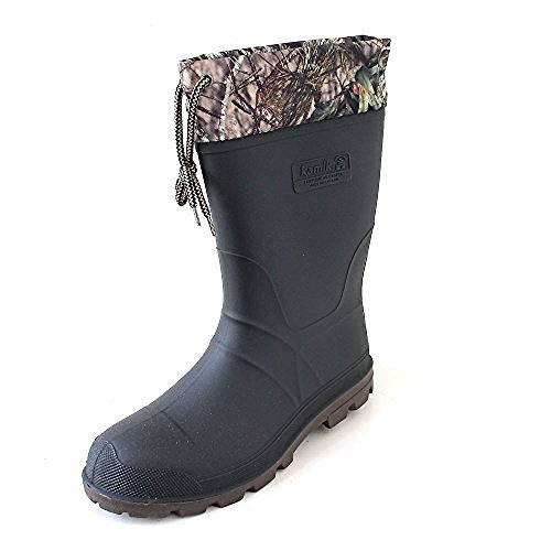Kamik Men's Icebreaker Camo Snow Boots Camo 12 & Toe Warmers Bundle ()