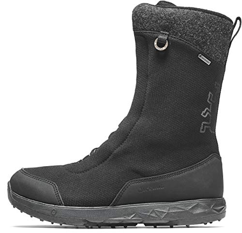 - Icebug Gore-TEX Waterproof Insulated Winter Boots for Women: Fern BUGrip GTX Mid-Calf, Side Zipper Boot - Studded Traction Sole for Ice & Snow, Black, 7.5