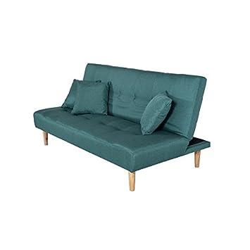 Sofa Aufklappbar Couch Schlaffunktion Wohnzimmer Stoff Polsterung ...