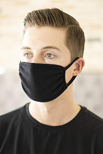 Reusable Fabric Face Mask Unisex Washable Covering - Cute Print Cloth Comfy Breathable Adjustable Mouth Protection Men Women