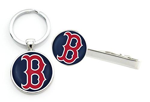 KT-M02 Boston Red Sox team logo set -Tie Clip + (Sox Team Key)