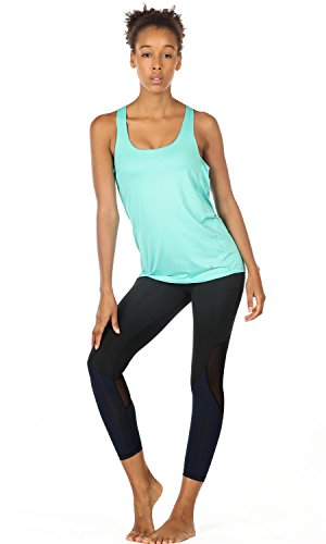 a16722b085d03 icyzone Yoga Tops Workouts Clothes Activewear Built in Bra Tank Tops for  Women (M