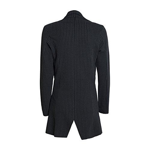 Damen Longblazer 3172-5113 - von Blue Effect - Cardigan Farbe Schwarz Streifen - Jacke - Freizeit - Mantel