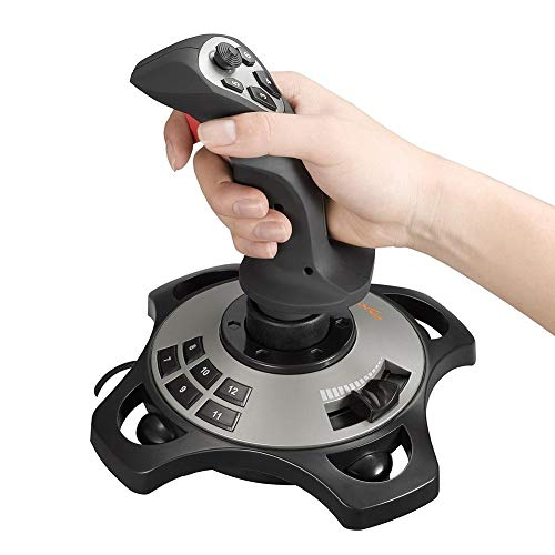 Laideyilan Flight Joy Stick USB PC Game PXN-2113 USB Interface Computer Game Joystick with Vibration Analog Controller for Windows XP/Vista/7/8/10