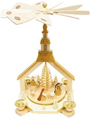 Alexander Taron Importer 16208 Richard Glaesser Pyramid-Nativity Scene-11.5 H W x 9 D, 11.5 x 9 x 9 , Brown