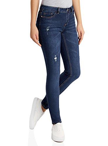 Skinny Invecchiato 7900w Effetto Jeans Blu Oodji Donna Ultra twxqnXSWPU