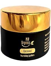 MiU Organics Moisturizing Lip Balm - Ultra Hydrating, Daily Nourishing | Castor Oil, Coconut Oil, Cocoa Butter, Honey | 15g | Edible, Non-Toxic, Gluten-Free, Cruelty Free, Gift | Dry, Chapped Lip Care | Australia Made